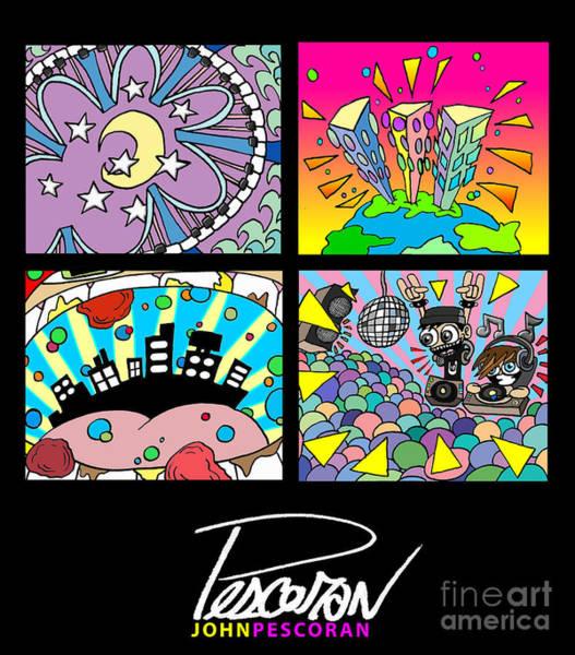 Pescoran Wall Art - Drawing - Pescoran Electricityscape Series  by John Pescoran