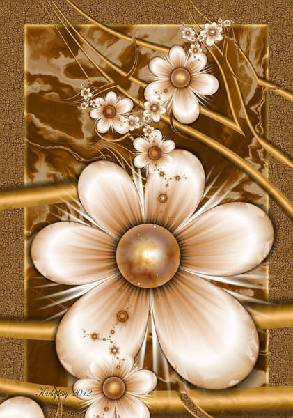 Digital Art - Petals And Pearls by Karla White