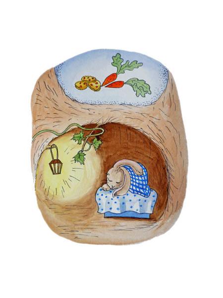 Painting - Peter Rabbit And His Dream by Irina Sztukowski