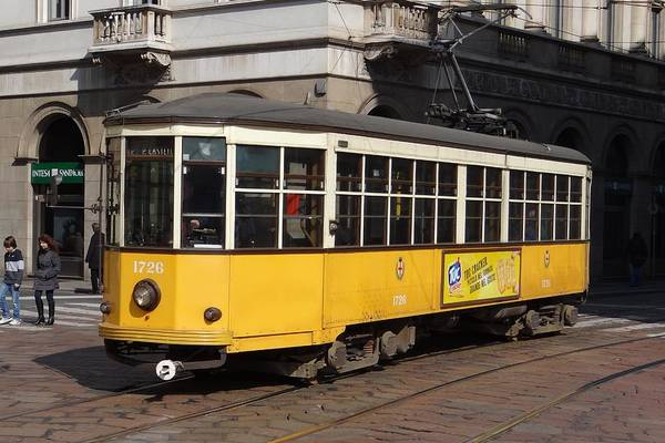 Photograph - Peter Witt Streetcar Milan by Keith Stokes