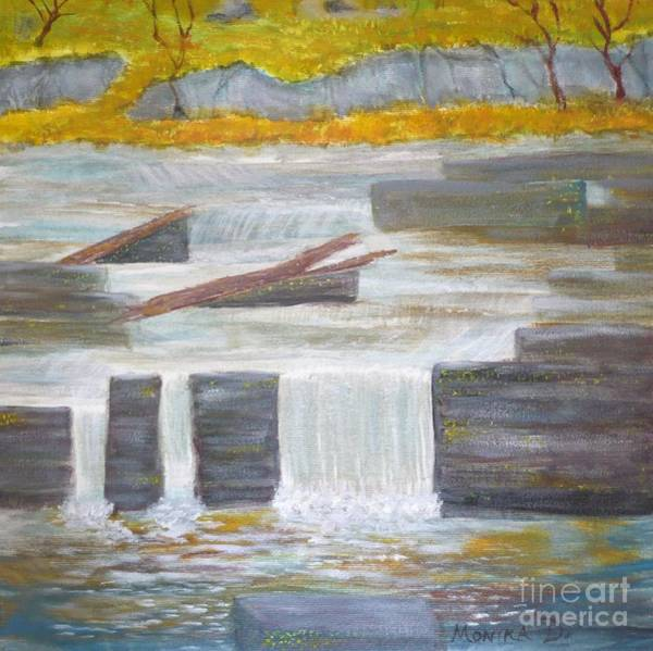 Painting - Pete's Dam by Monika Shepherdson