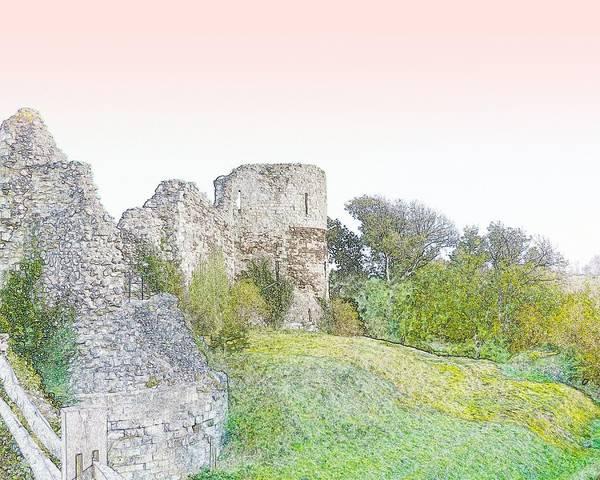 Roman Fort Photograph - Pevensey Castle by Sharon Lisa Clarke