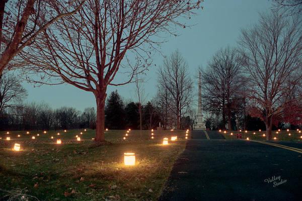 Luminaries Photograph - Philadelphia Brigade Monument 11 by Judi Quelland