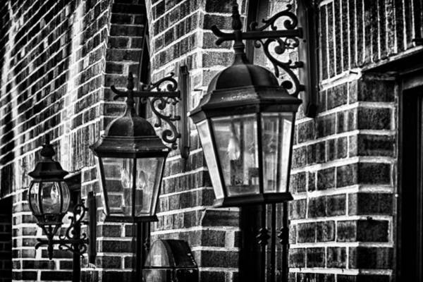Photograph - Philadelphia Building Lamps by Val Black Russian Tourchin