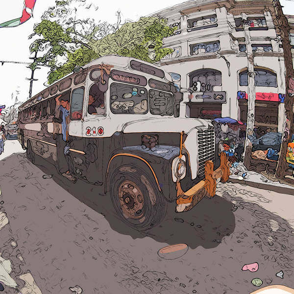 Painting - Philippines 1268 Antique Bus by Rolf Bertram