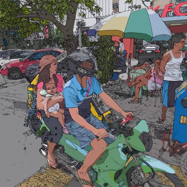 Painting - Philippines 840 Pamilya by Rolf Bertram
