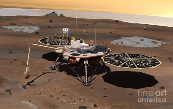 Photograph - Phoenix Mars Lander by Stocktrek Images