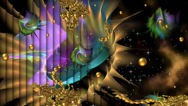 Fractal Landscape Digital Art - Phool's Gold by Phil Sadler