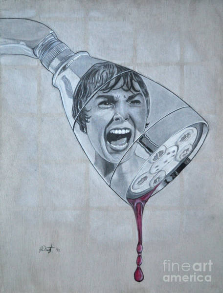 Tile Drawing - Phsycho by Joe Dragt