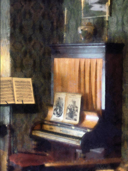 Photograph - Piano And Sheet Music On Stand by Susan Savad