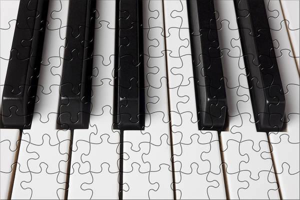 Compose Wall Art - Photograph - Piano Keys Jigsaw by Garry Gay