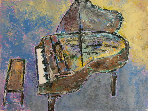Musical Theme Painting - Piano Study 3 by Anita Burgermeister