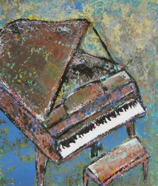 Painting - Piano Study 5 by Anita Burgermeister