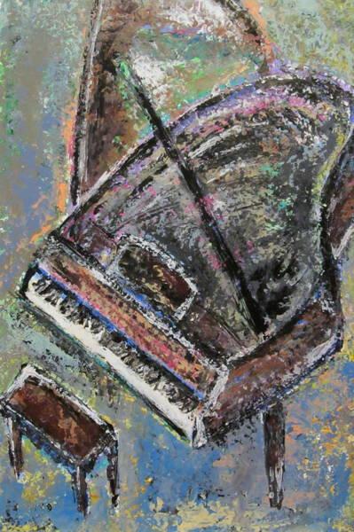 Musical Theme Painting - Piano Study 9 by Anita Burgermeister