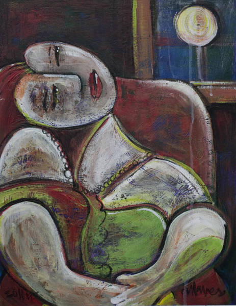 Painting - Picasso Dream For Luna by Laurie Maves ART