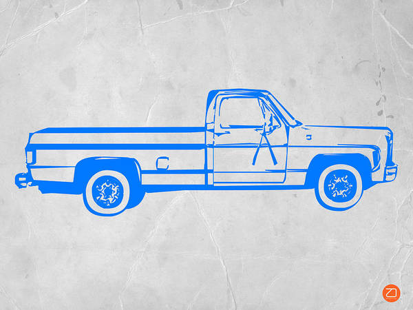 Iconic Digital Art - Pick Up Truck by Naxart Studio