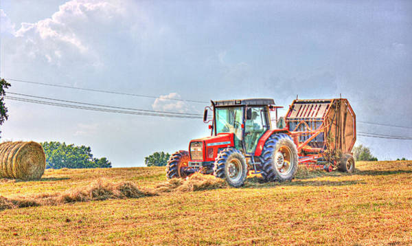 Photograph - Picking Up Hay by Barry Jones