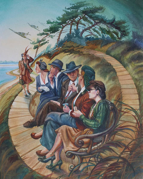 My Son Painting - Picnic At Lepe by Gilly Marklew