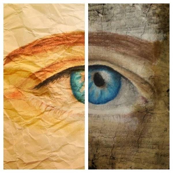 Grace Wall Art - Photograph - #picstitch #picfx #eye #sketch by Grace Shine