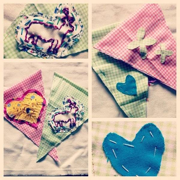 Grace Wall Art - Photograph - #picstitch #sewing #bunting #samples by Grace Shine