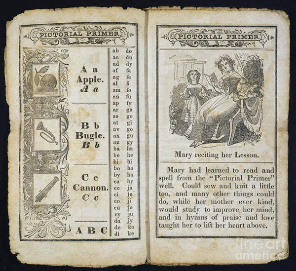 Photograph - Pictorial Primer, C1845 by Granger