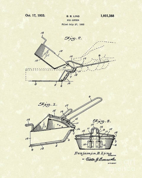 Wall Art - Drawing - Pie Cutter 1933 by Prior Art Design