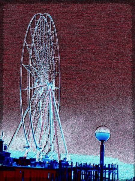 Elliott Digital Art - Pier 57 Ferris Wheel by Tim Allen