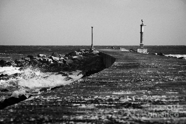 Barmouth Photograph - Pier Bann Mouth County Derry Londonderry Northern Ireland by Joe Fox