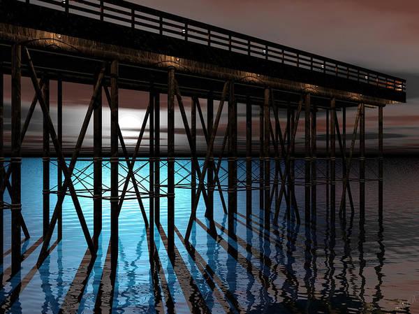 Aira Wall Art - Digital Art - Pier by Tea Aira