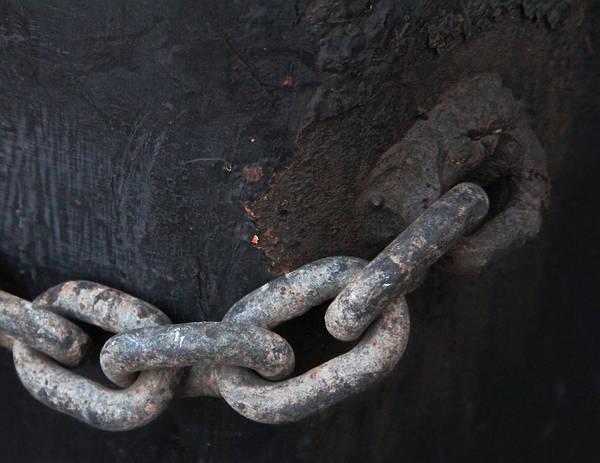 Chain Link Photograph - Pierced by Odd Jeppesen