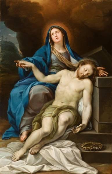 Golgotha Painting - Pieta by Italian School