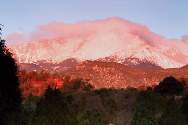 Photograph - Pikes Peak Sunrise by Paul Svensen