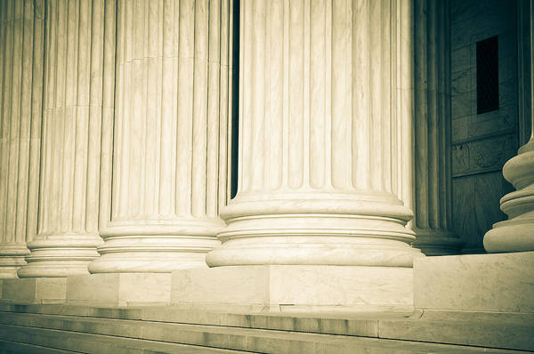 Photograph - Pillars Of Law And Justice Us Supreme Court by Brandon Bourdages