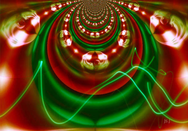 Pinball Digital Art - Pinball Greenage by Jan Steadman-Jackson