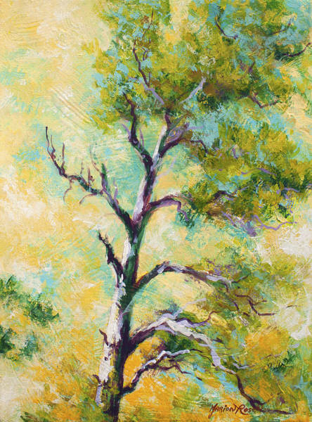 Evergreen Trees Wall Art - Painting - Pine Abstract by Marion Rose