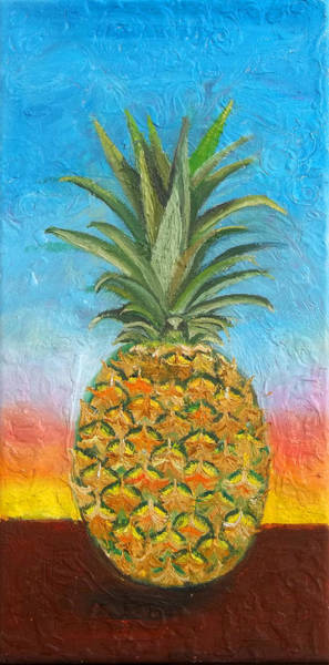 Painting - Pineapple Sunrise 2 Or Pinapple Sunset 2 by Anne Cameron Cutri