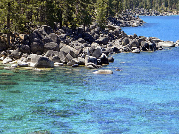 Photograph - Pines Boulders And Crystal Waters Of Lake Tahoe by Frank Wilson