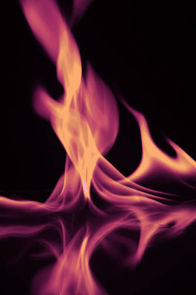 Photograph - Pink Fire On Water by M K Miller