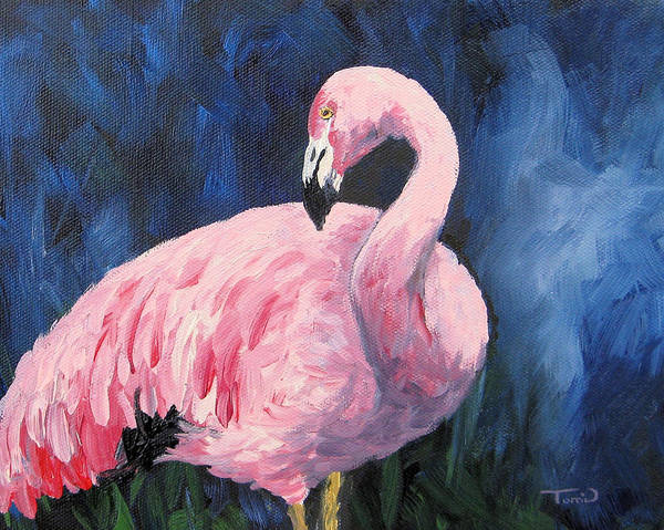 Wall Art - Painting - Pink Flamingo IIi by Torrie Smiley