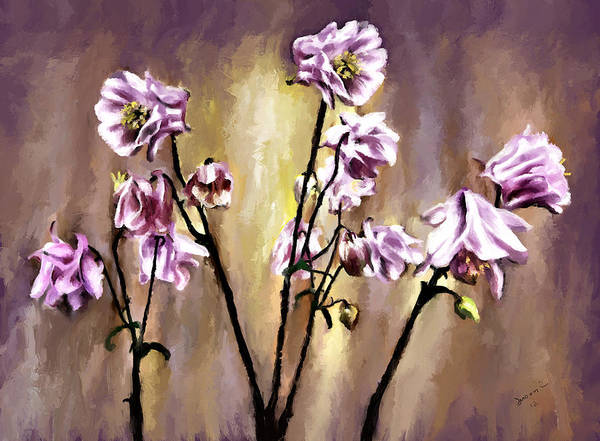 Painting - Pink Flowers by Susan Kinney