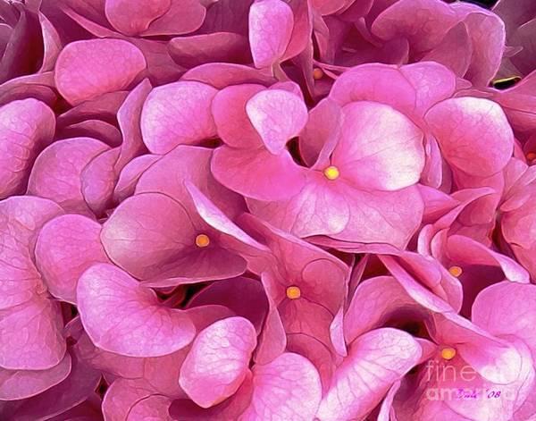 Digital Art - Pink Hydrangeas by Dale   Ford