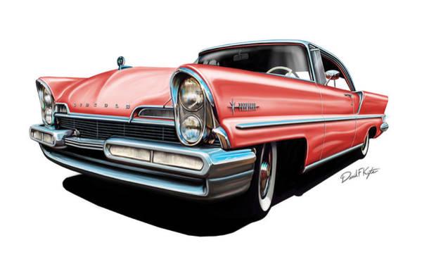 Lincoln Digital Art - Pink Lincoln Premier  by David Kyte