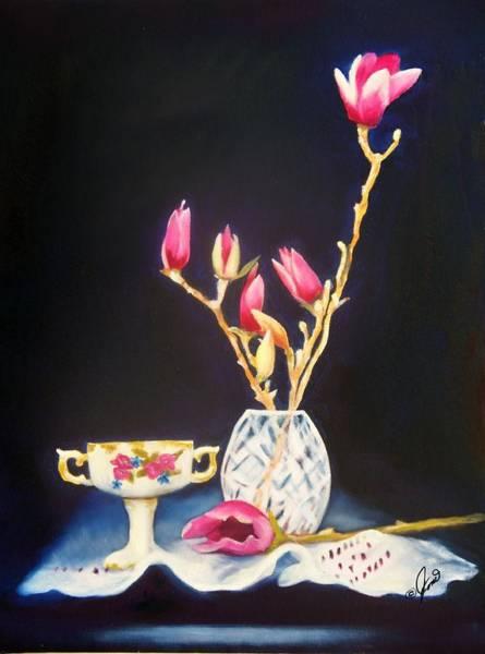 Painting - Pink Magnolias by Joni McPherson