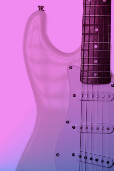 Photograph - Pink To Blue Electricd Guitar by M K Miller