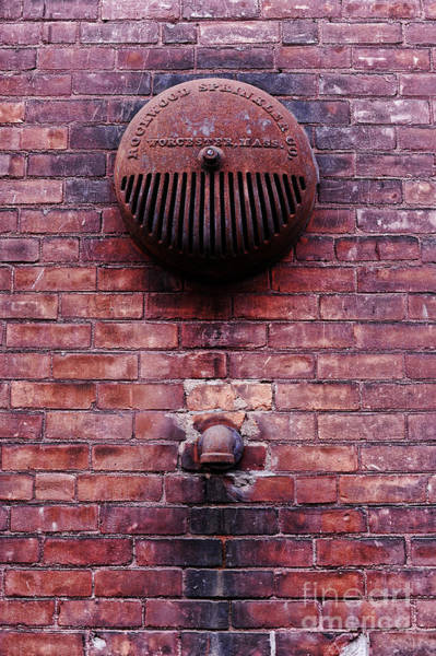 Drain Photograph - Pipe And Alarm by HD Connelly