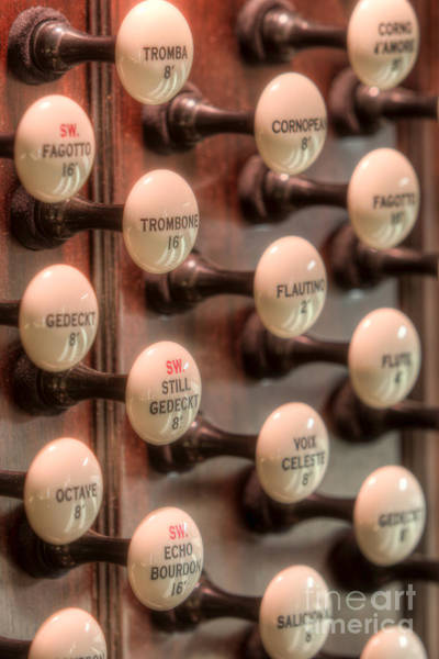 Photograph - Pipe Organ Stop Knobs II by Clarence Holmes