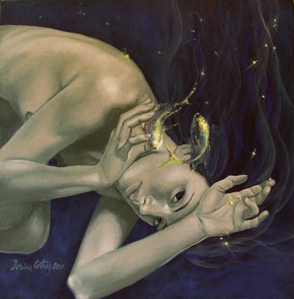 Constellation Painting - Pisces From Zodiac Series by Dorina  Costras