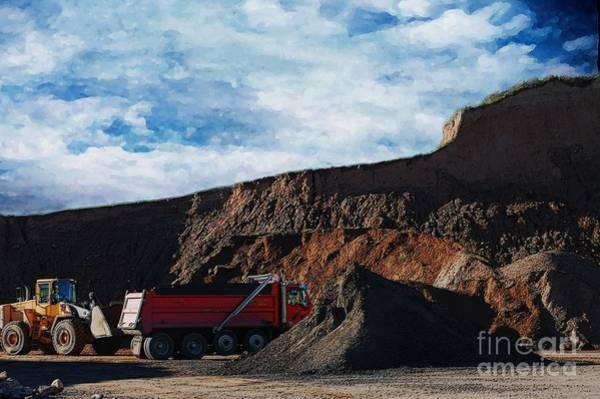 Dump Truck Digital Art - Pit Bulls by The Stone Age