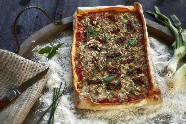 Chive Photograph - Pizza With Herbs by Joana Kruse