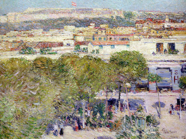 Central America Painting - Place Centrale And Fort Cabanas - Havana by Childe Hassam